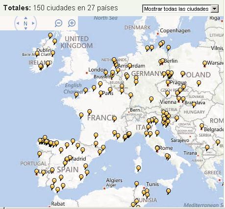 mapa para marcar lugares visitados app Cities I've visited, la aplicación para viajeros   el Macuto Viajero mapa para marcar lugares visitados app